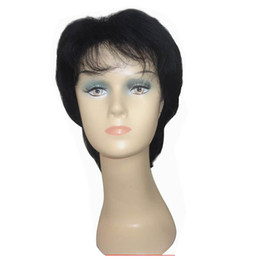 Stylish Straight Hair UK - New Stylish Short Black Straight Hair Wigs for Black Women Synthetic Hair Wigs Party Wigs Free Shipping
