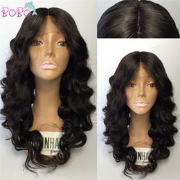 Body Wave Long Hair Canada - Best Long Full Lace Human Hair Wigs with Bangs Virgin Brazilian Body Wave Glueless Human Hair Lace Front Wig with Baby Hair