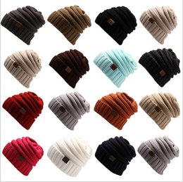 acde648b346 CC Knitted Hats CC Trendy Beanie Women Winter Warm Oversized Chunky Skull Caps  Cable Knit Slouchy Crochet Hats Fashion Outdoor Hats B2455