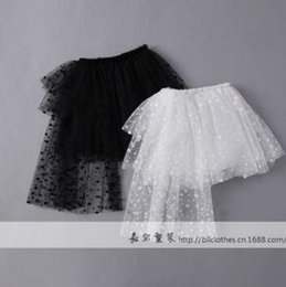 Arrivée De Vêtements Pour Enfants Pas Cher-New Arrival Kids Girl Spring et été Dentelle Black White Skirt Enfant Vêtements Pincess Jupe Jupe Nouvelle Jupe 2017 6 Pcs / Lot X21809