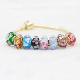 Discount colored charms - Many Different Colored Glaze Murano Glass Charm Bead 925 Silver Plated Fashion Women Jewelry European Style For Pandora