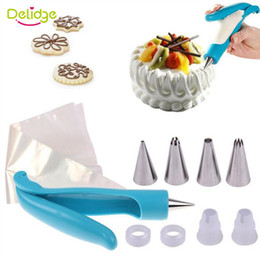 $enCountryForm.capitalKeyWord Canada - Delidge 1 Set Cake Decoration Set 1 pen 4 Bags 4 Nozzles 2 Converters DIY Icing Piping Cream Syringe Tips Muffin Cake Pen