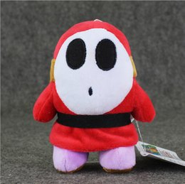 Wholesale guys dolls online – design 14cm Supper Mario Shy Guy Plush Toy Soft Plush Stuffed Toys Doll with Suction Cup for Kids Christmas Gift Safty EMS
