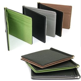 Chinese  Wholesale- New Arrival Men Magic Skin Wallets Fashion Leather Card $ID Holder Sollid Thin Wallet Purse Travel Case manufacturers