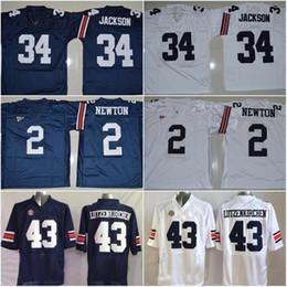 brand new 67b25 53b2e auburn tigers 43 philip lutzenkirchen navy blue throwback jersey