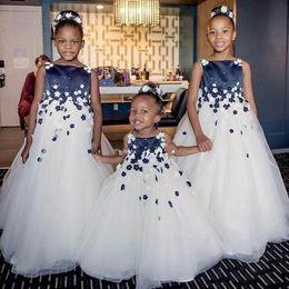 c8fa8da9a Ivory And Navy Flower Girl Dresses Online Shopping