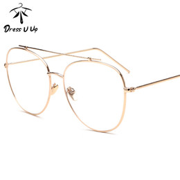 eedb3daf5123 Wholesale- DRESSUUP 2016 High Quality Alloy Frame Round Eyeglasses Women  Men Unisex Newest Vintage Clear Glasses Frame Gafas De Sol