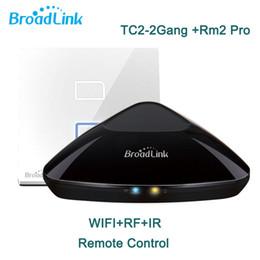 $enCountryForm.capitalKeyWord NZ - Wholesale-Broadlink RM2 RM Pro Intelligent Remote +TC2 2 Gang Wifi Light Switch,Smart Home,Wifi + IR + RF Switch,Control via IOS Android