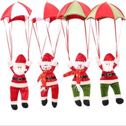 Wholesale The New Christmas Charm Decorations For Home Parachute Santa Claus Christmas Snowman Ornaments Festival Gift