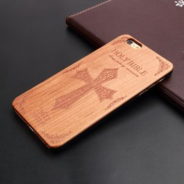 I Phone Case Design Canada - U&I Fashion Pattern Cherry Wood cell phone accessories for IPhone Laser design real wood PC handmade back cover cases