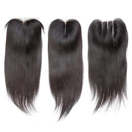 straight hair middle closures 2019 - Peruvian Virgin Hair Straight 4*4 Lace Top Closure Middle part Natural Color Can be Dyed Lace closure cheap straight hai