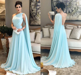 One Shoulder Mint Green Evening Gown Online | One Shoulder Mint ...