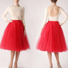 de96896ce3f England Style Puffy Red Tulle Skirts For Women Knee Length Zipper Short  Ball Gowns Tutu Skirt fashion woman skirt