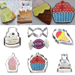 $enCountryForm.capitalKeyWord Canada - 6pcs cupcake candy shaped cookie cutter ice cream biscuit mold Dessert bread fruit pastry cutters fondant cake decorating tools