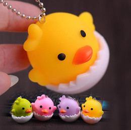leather key strap Canada - Brand new Cute Chicken Creative Egg Shell Cartoon Vial Doll Key Ring Bag Small Strap KR263 Keychains mix order 20 pieces a lot