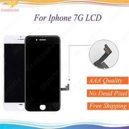 $enCountryForm.capitalKeyWord NZ - LCD For iPhone 7g Front Assembly 4.7 inch 7 LCD Display Touch Screen Digitizer Glass Replacement With Mid-frame free DHL shpping