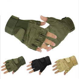 Army tActicAl gloves online shopping - Blackhawk Hell Storm Tactical Gloves Army Combat Airsoft Shooting Bicycle Fingerless Gloves Paintball Half Finger Gloves