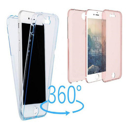 Transparent Iphone Front Back NZ - 360 Degree Front Back Full Body Case Crystal Clear Soft TPU Cases For iPhone X 8 7 plus 6 6s plus 5s se Samsung note 8 s8 s8 plus s7 s7 edge