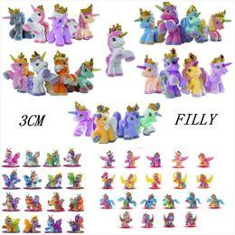 95633132e47 Unicorn Plush Toy Butterfly Witchy Stars Unicorn Ect. Toy Little Horse 3CM  Mini Horses Kids Animal Action Dolls 10pcs lot