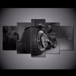 Art Canvas Prints Australia - 5 Pcs Set Framed Printed motorcycle bike chopper sports style Painting Canvas Print room decor print poster picture canvas art