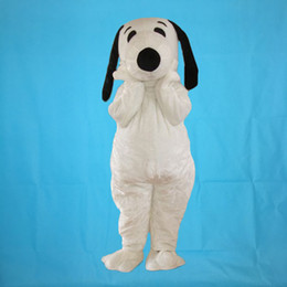 Snoopy coStumeS online shopping - Hot sale adult white plush snoopy dog mascot costumes fancy costumes