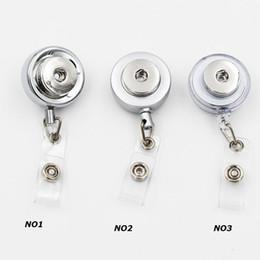 Опт 3 стили Оснастки кнопки ювелирные изделия аксессуары металлический выдвижной значок катушки ключ ID карты клип кольцо талреп имя тега держатель карты Fit 18 мм Оснастки Шарм