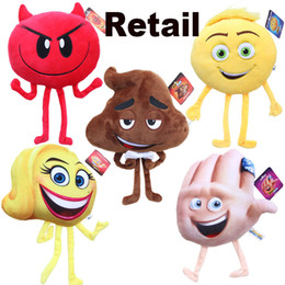 China New Arrival Emoji Stuffed Animals Plus Doll 2017 Emoji Cartoon Character Plush Toys 20-25cm Kids Stuffed Soft Toy EMS Fast Shipping cheap purple stuffed animals suppliers