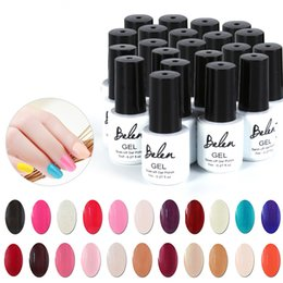 Barato Led Gel Lamp Venda-Atacado-Belen 7ml Gel Polonês Verniz UV LED Top Color Série UV Gel Base Top Coat UV Lâmpada Nail Art Design Hot Venda Nail Gel Lacquer