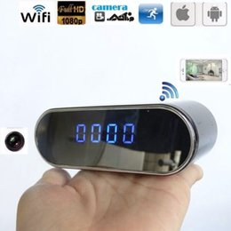 Wirless Wifi online shopping - 1080P P2P WIFI Clock mini IP camera Wide Angle night Vision table Clock DVR Network Camera wirless surveillance Baby Monitor