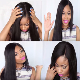 Indian Straight Hair Girls Canada - Human Hair 100% Wigs For Black Women Glueless Complete Cordon Malaysia Girl Straight Hair Weaving In Full Lace Human Hair Wigs FULL LACE WIG