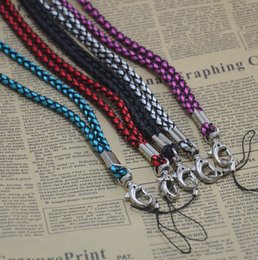 lanyards rope keychain UK - nylon braided wrist hand cell phone mobile chain straps keychain Charm Cords DIY Hang Rope Lariat Lanyard new