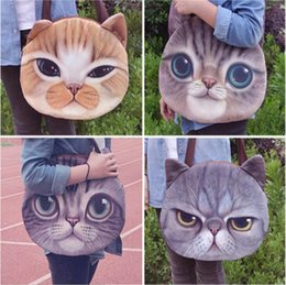 $enCountryForm.capitalKeyWord Canada - New Designed Female Retro Cartoon 3D Animal Printing Shoulder Bags Cat Shape Women Handbag for Girls