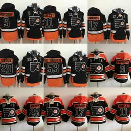 18b0bffc9 Philadelphia Flyers Hockey Jersey Hoodies Mens 9 Ivan Provorov 11 Travis  Konecny 17 ... Womens Philadelphia Flyers Claude Giroux Old Time Hockey  Orange ...