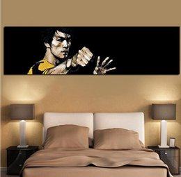 Canvas Art Prints For Sale NZ - Hot sale Digital Print Famous Bruce Lee Oil Painting HD Print on Canvas Wall Pop Art for Living Room Sofa Cuadros Decor Unframed