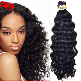 Deep Curly Wave Bulk Hair For Braiding 3Pcs Lot 150g Afro Human No Attachment Crochet Braids