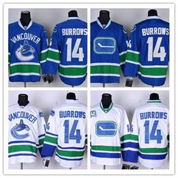 93f7e32b7dd ... NHL Jersey 2016 Vancouver Canucks 14 Alex Burrows Blue White Hockey  Jerseys Ice Stitched Jersey do Drop Shipping ...