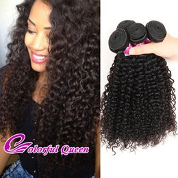 Colorful Human Hair Australia - Peruvian Kinky Curly Virgin Human Hair Weft Colorful Queen Cheap Peruvian Virgin Human Hair 4 Bundles Soft Peruvian Hair Jerry Curly Weave
