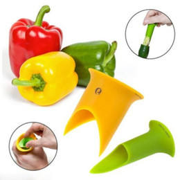 hot sale 2pcs set vegetable tools pepper corer tomato bell pepper seed remover kitchen tools gadgets