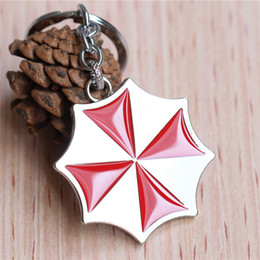 resident evil gifts 2019 - Moive Keychain Jewelry Resident Evil Parasol Mark Alloy Key Rings & keychain Jewelry For Unisex Gift Hot Sale cheap resi