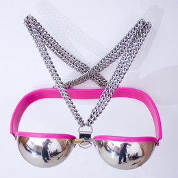 sex tops for couples Canada - Stainless Steel Breast Bra female chastity belt,Top quality chastity female belts,sex toys for couples female sex slave