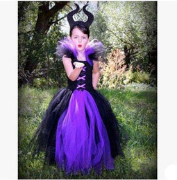 $enCountryForm.capitalKeyWord Canada - Halloween Clothing Evil Queen Children's Performance Dress Black Lace Long Dresses Girls Cosplay Costume Dress Into the Woods for Sale