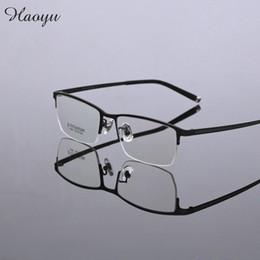 2834fd1f53 Titanium Eyeglasses Frames Men Canada - Wholesale- haoyu Fashion eyeglasses  men computer glasses frames pure