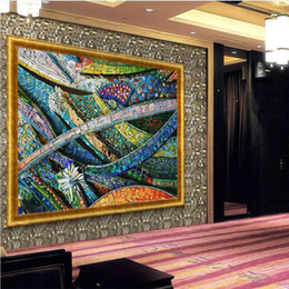$enCountryForm.capitalKeyWord NZ - Mural Wallpapers Home Decor Photo Background Wall Paper Photography Color Lines of Glass Mosaic Hotel Bathroom Large Wall Mural