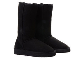 Lady Shoes Brand Sale UK - Fashion Winter Classic Snow Boots Tall Women Boot Warm Ladies Brand Designer Shoes Australia Christmas Brown Black Sale Online Sale