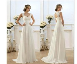 $enCountryForm.capitalKeyWord NZ - 2016 New Romantic Beach A-line Wedding Dresses Cheap Maternity Cap Sleeve Keyhole Lace Up Backless Chiffon Summer Pregnant Bridal Gowns