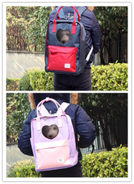 Bags Carry Puppies Australia - Free shipping pet dog cat puppy backpacks carried bags heart shape two colors fashion sweet