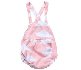 tutu boutique wholesale UK - 2017 Summer New Arrivals Baby Cloud Printed Rompers Infant Sleeveless Jumpsuits Toddler Girls One-Piece Babies Romper Kids Boutique Clothing
