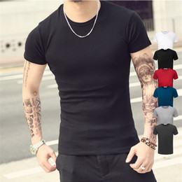 Fashion Design Brand New Solid Color T Shirt Men Sex Tops Classical Tees 6 Colors 5 Size Shirts Casual Style Printed T-shirt TX95 RF