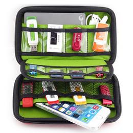 591bb9bb2f75 3 colores - accesorios electrónicos bolsa para disco duro, organizadores  para auriculares Cables USB Flash Drives Travel Case, Digital Storage Bag