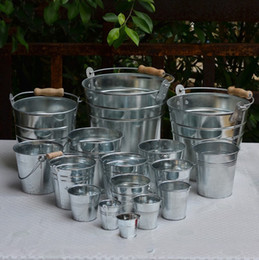 Galvanized pots online shopping - Tin Bucket High Quality Multi Function Flowerpot Not Easily Deformed Portable Garden Vase Firm And Durable hp10 R